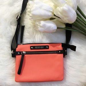KENNETH COLE Neon Orange Crossbody Bag